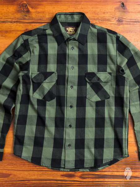 Norris Selvedge Flannel in Green