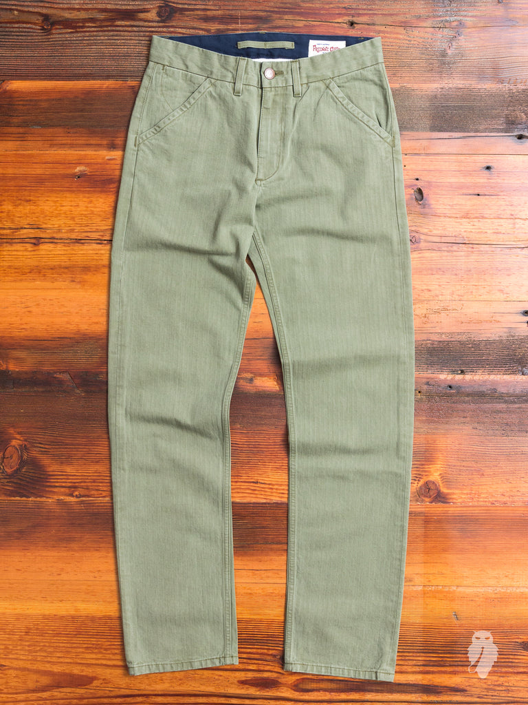 10oz Workers Chino in Olive