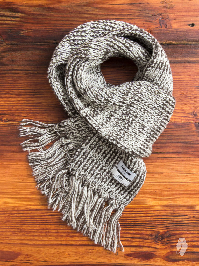 """Black Sheep"" Scarf in Cream"