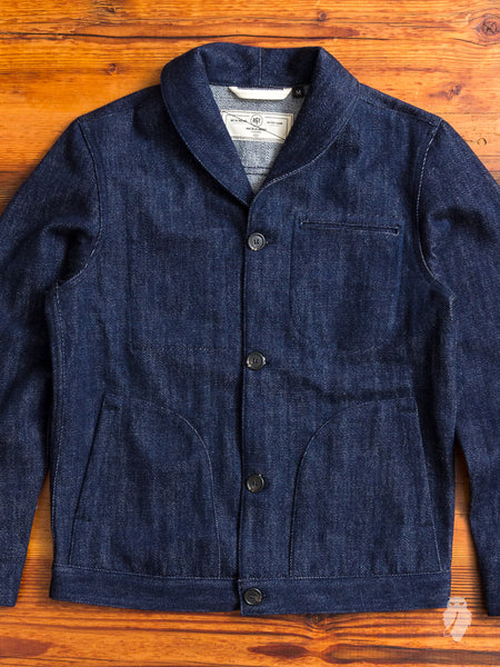 Shawl Supply Jacket in Indigo Knit