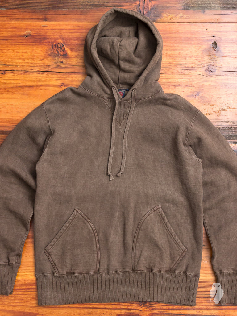 """Amani Dorozome"" Loopwheel Pullover Hoodie in Mud"