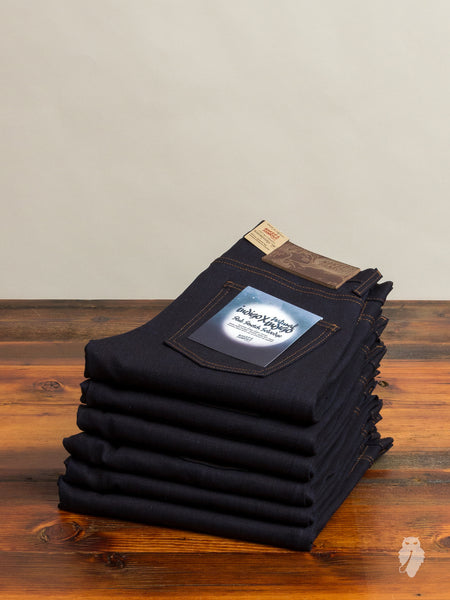 """Indigo x Natural Indigo Slub Stretch"" 13oz Selvedge Denim - Super Skinny Guy Fit"