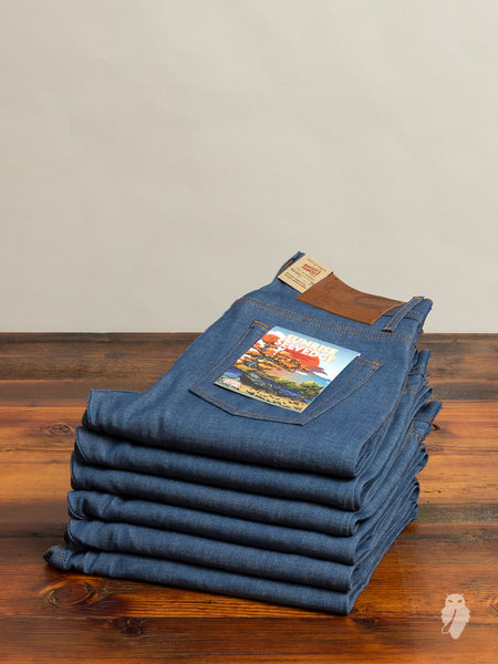 """Sunrise Selvedge"" 10oz Selvedge Denim - Weird Guy Fit"