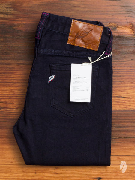 "1069-4-PP ""Purple Weft"" 12oz Women's Stretch Denim - Slim Tapered Fit"