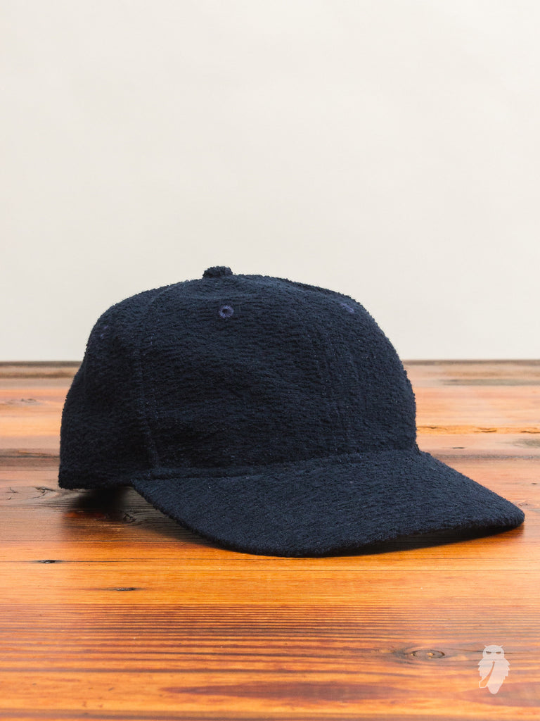 Loop Knit 6-Panel Hat in Navy