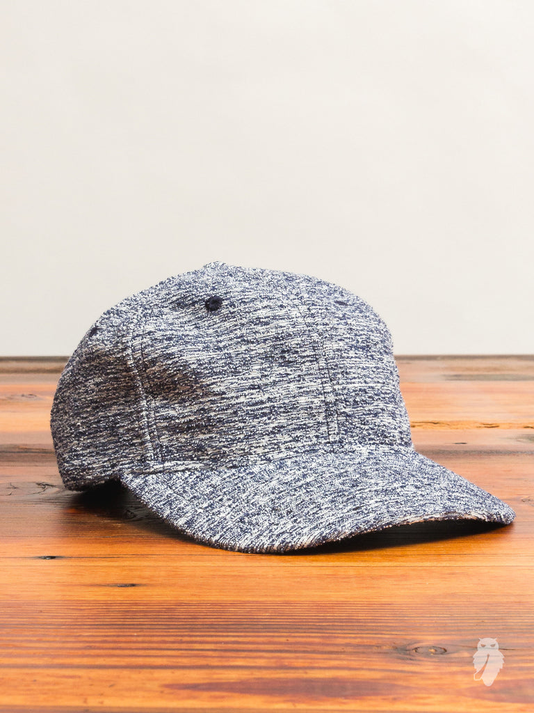Loop Knit 6-Panel Hat in Static Navy