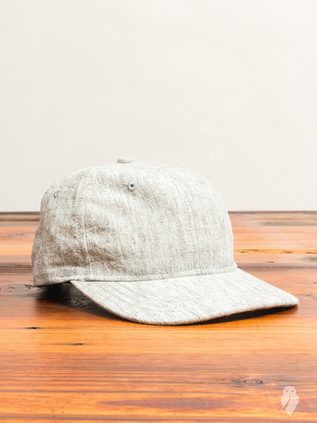 Washed Linen 6-Panel Hat in Ash Grey