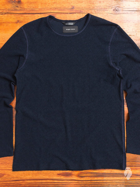 Loop Knit Long Sleeve in Navy