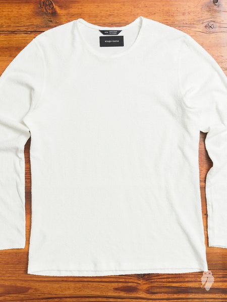 Loop Knit Long Sleeve in White