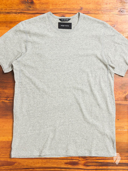 Premium Jersey T-Shirt in Heather Grey