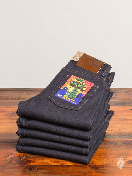 """Kaiju Monster"" 16.5oz Selvedge Denim - Weird Guy Fit"