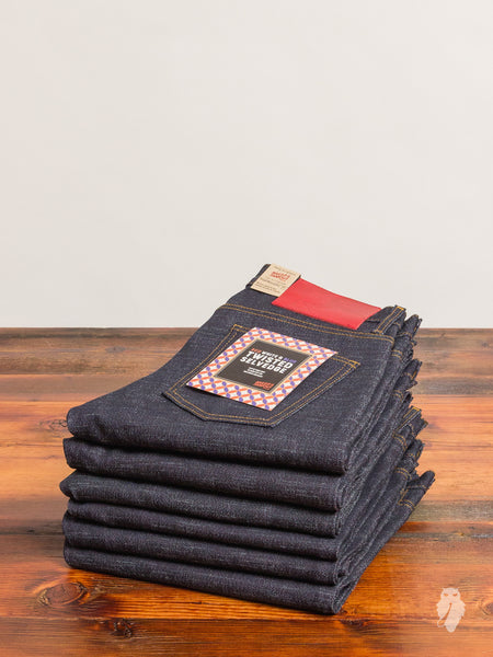 """Red White & Blue Twisted Weft"" 12.5oz Selvedge Denim - Super Skinny Guy Fit"