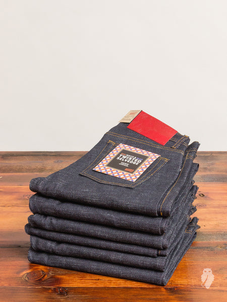 """Red White & Blue Twisted Weft"" 12.5oz Selvedge Denim - Weird Guy Fit"