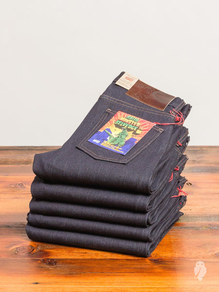 """Kaiju Monster"" 16.5oz Selvedge Denim - Super Skinny Guy Fit"