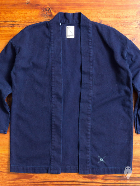 Haori Sashiko Shirt in Natural Indigo Overdye