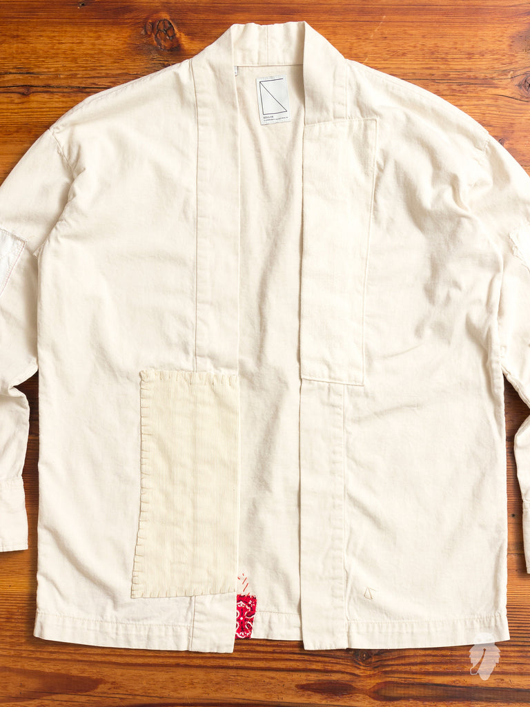 Haori Western Denim Shirt in White
