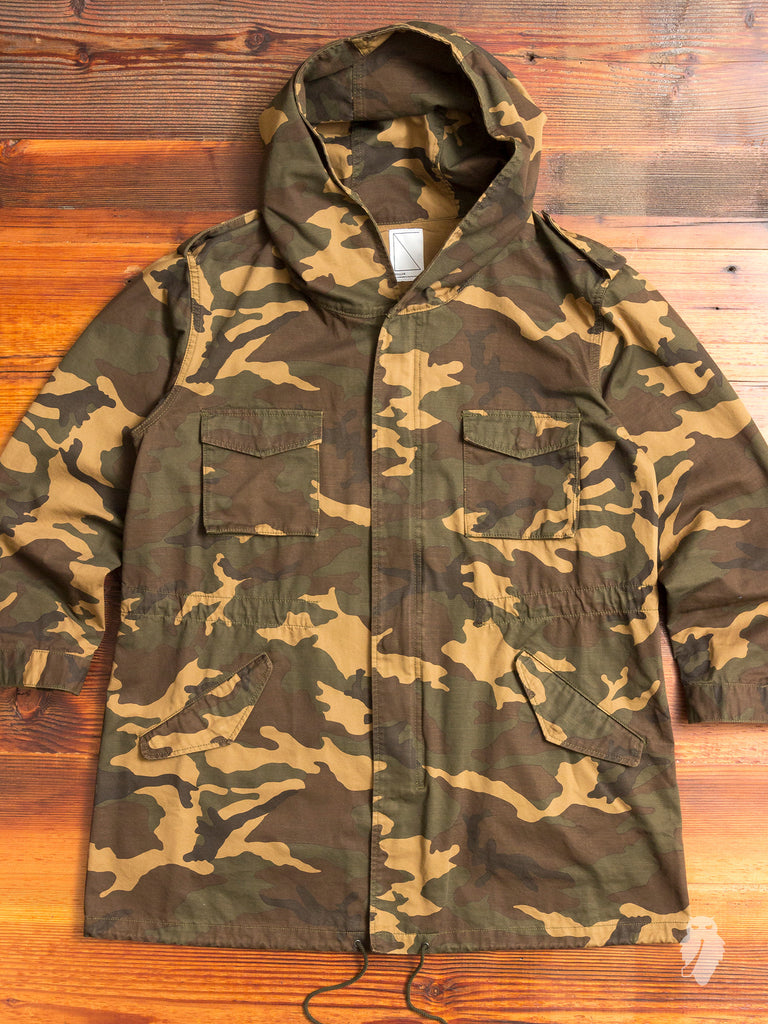 Military Field Jacket in Woodland Camo
