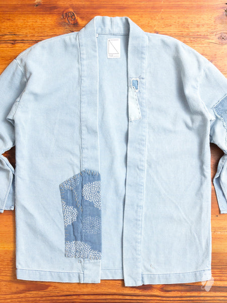 Haori Sashiko Shirt in Washed Indigo Remake