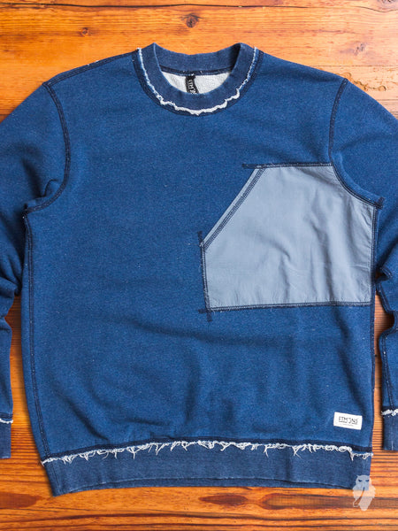 Raw Seam Indigo Pocket Sweater