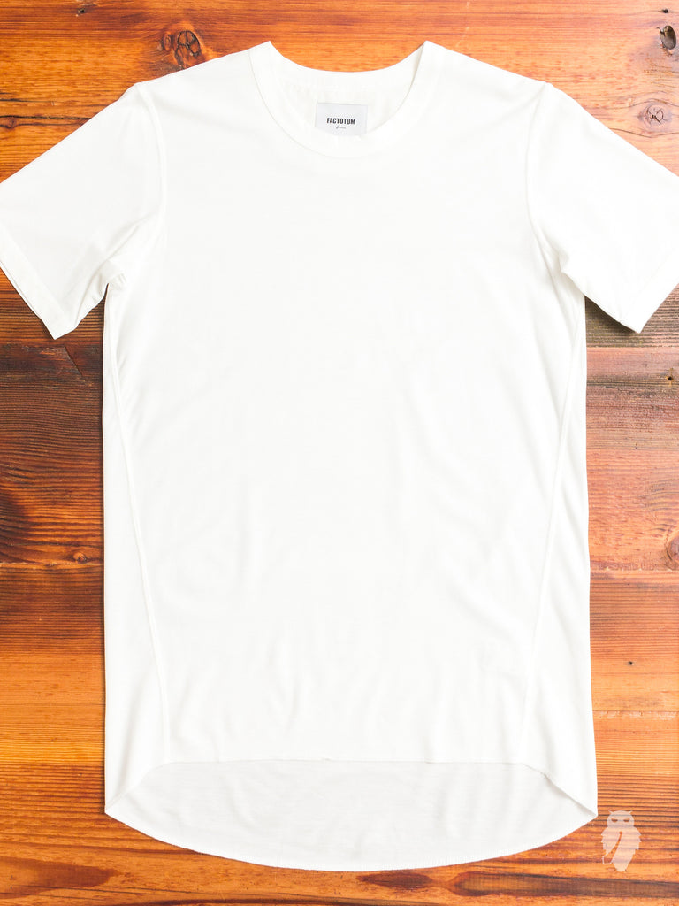 Curve Hem Air Twill Tee in White