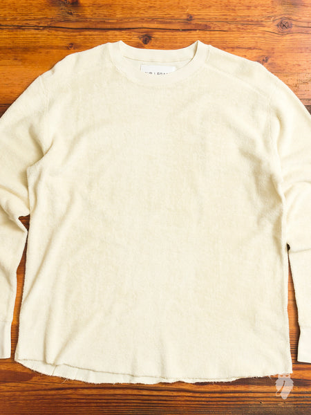 Football Long Sleeve in Cream Terry