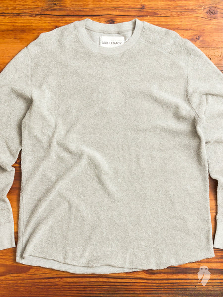 Football Long Sleeve in Grey Terry