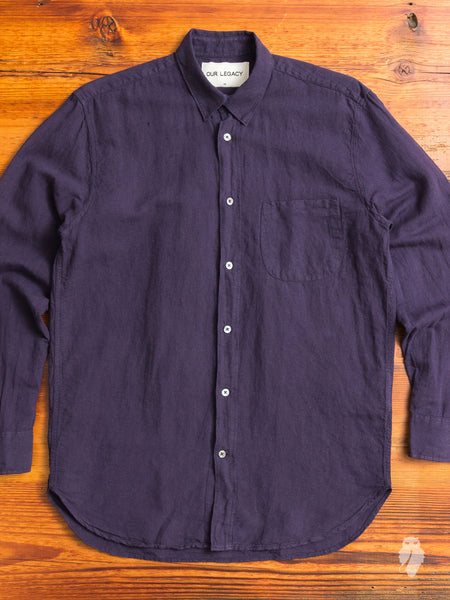 Generation Shirt in Purple Linen