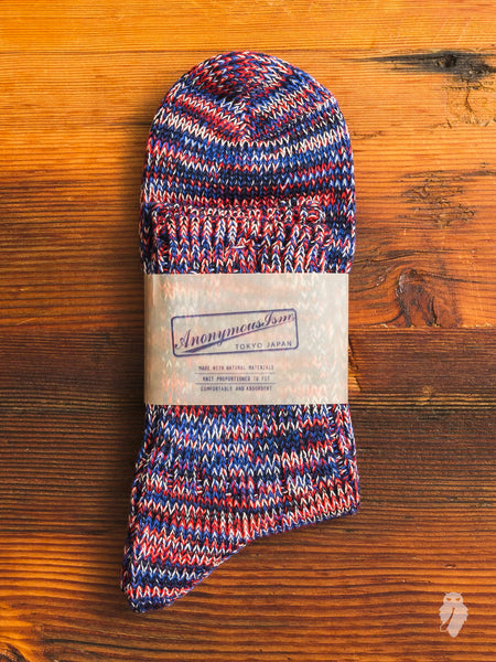 Melange 3/4 Length Sock in Rocket