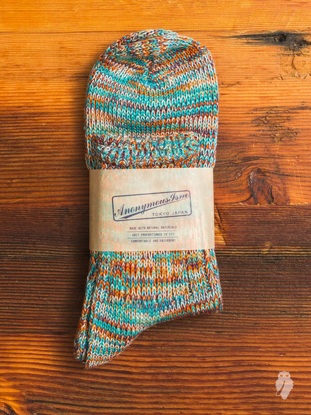Melange 3/4 Length Sock in Baja