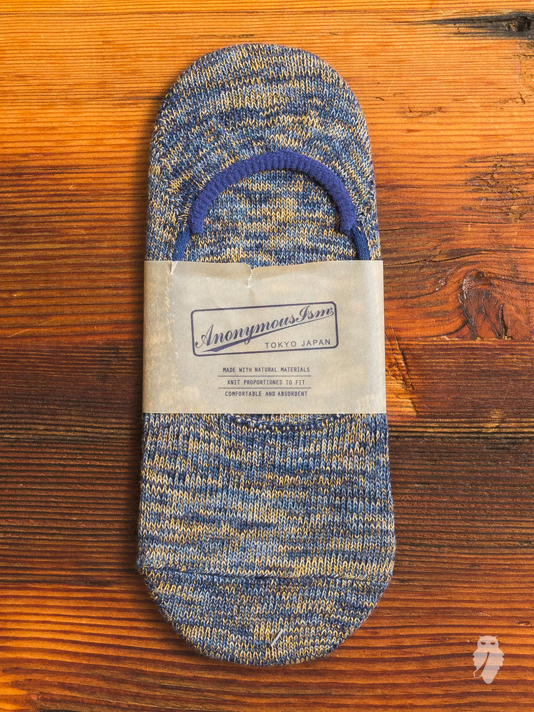 Melange Loafer Sock in Blue