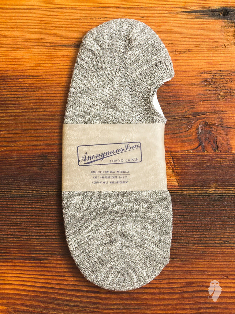 Melange No-Show Sock in Grey