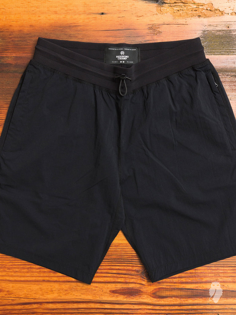 DWR Stretch Nylon Short in Black