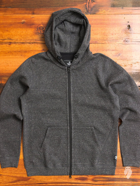"""Sea to Sky"" Bonded Terry Zip Hoodie in Charcoal"