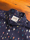 """Arrows"" Button Down Shirt in Navy"