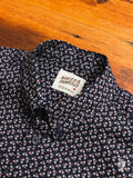 """Spring Flowers"" Button Down Shirt in Navy"
