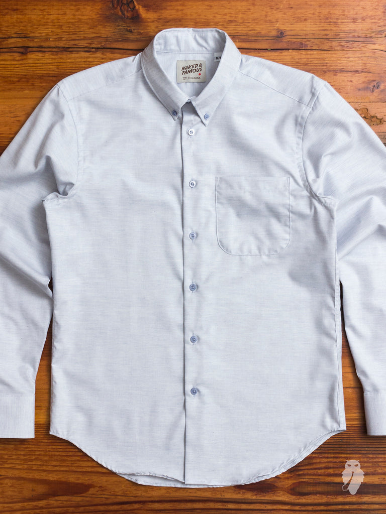 """Real Fruit Dyed"" Button Down Shirt in Blueberry"