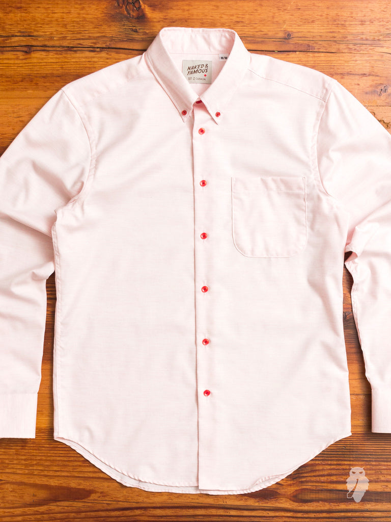 """Real Fruit Dyed"" Button Down Shirt in Strawberry"