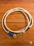 Braided Leather Triple Wrap Bracelet in Natural