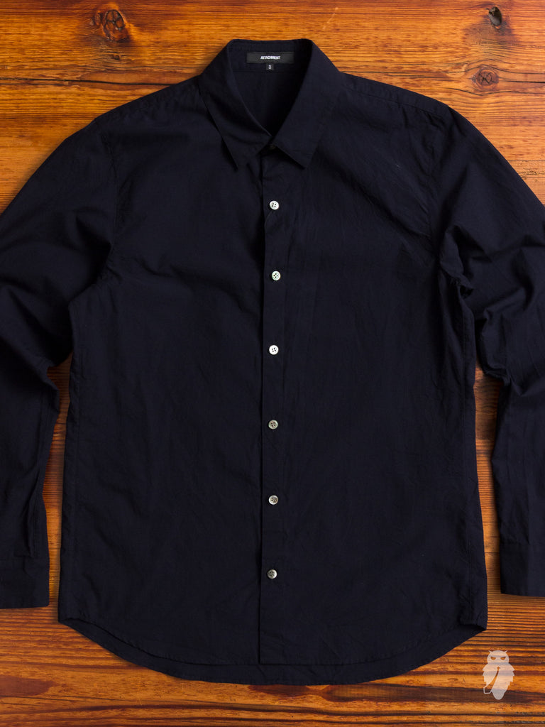 Chambray Button Down in Navy