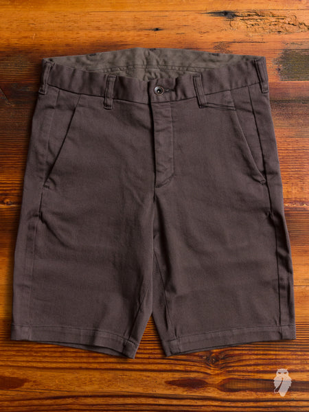 Power Stretch Twill Shorts in Charcoal