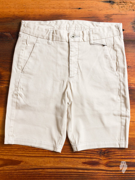 Power Stretch Twill Shorts in Off White