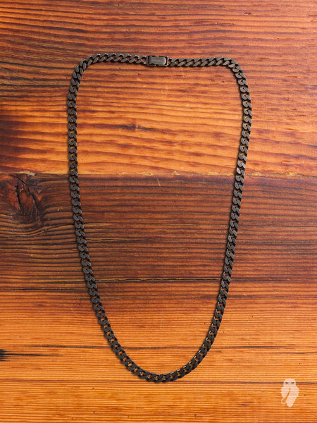 Sterling Silver Chain Necklace in Gunmetal