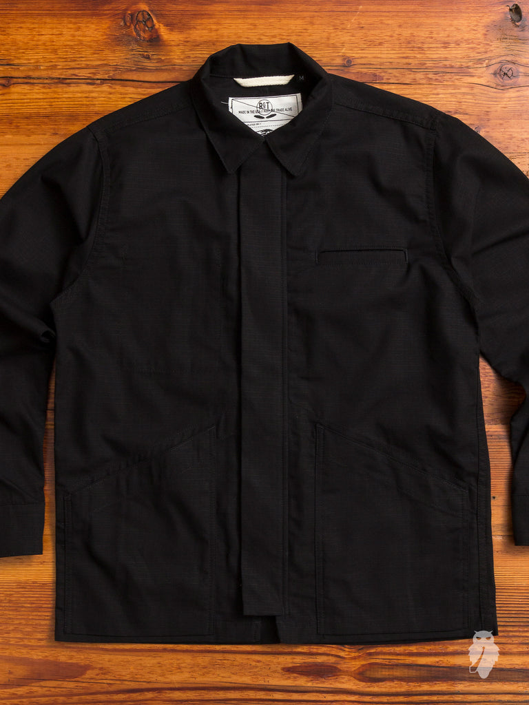 Infantry Jacket in Black Ripstop