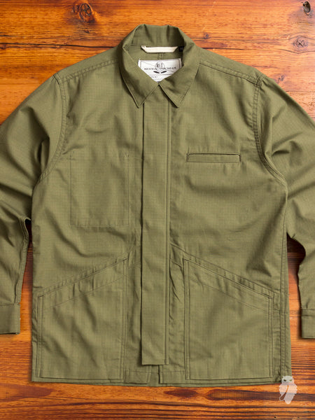 Infantry Jacket in Olive Ripstop