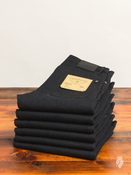Portola 14.25oz Black Selvedge Denim - Tapered Fit