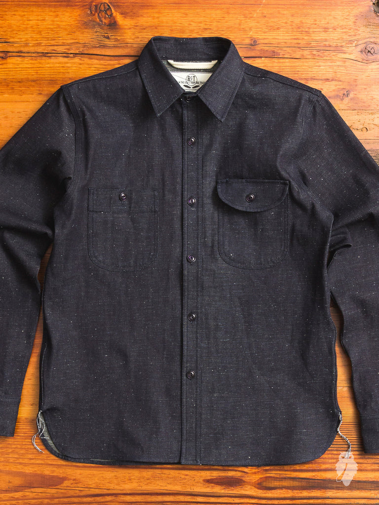 """Neppy Denim"" 9oz Work Shirt in Indigo"
