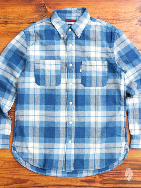 Yarn-Dyed Button Down Shirt in Indigo
