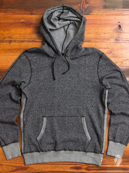 """Tiger Fleece"" Pullover Hoodie in Black"