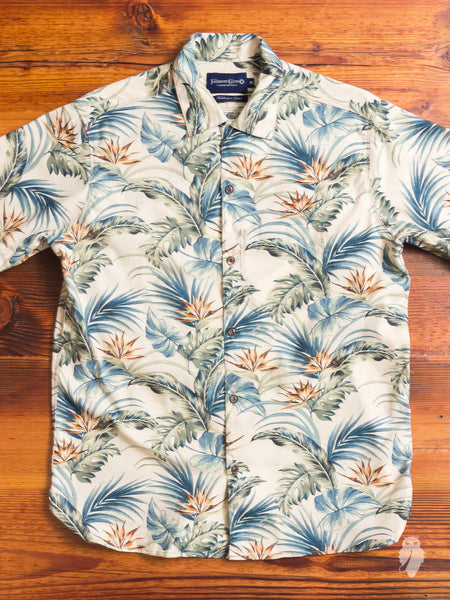 Hawaiian Button Up Shirt in Natural