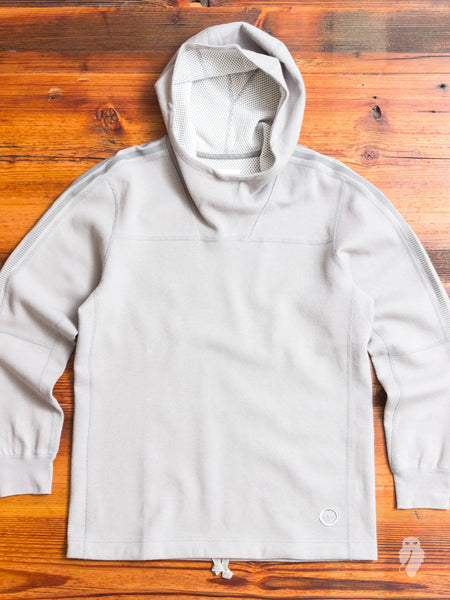 Bonded Linen Pullover Hoodie in MGH Solid Grey